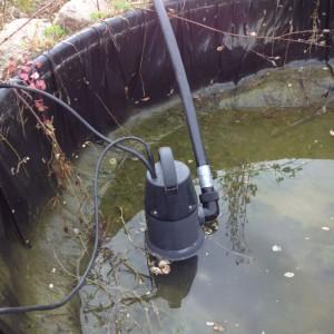 Dränkbar smutsvattenpump